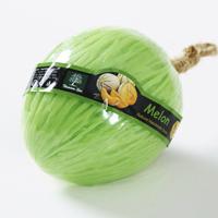Фигурное спа-мыло «Зеленая дыня» c натуральной люфой 110 гр  / Lufa spa soap green melon