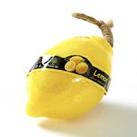 Фигурное спа-мыло «Лимон» c натуральной люфой 110 гр  / Lufa spa soap lemon