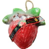 Фигурное спа-мыло «Клубничка» c натуральной люфой 125 гр  / Lufa spa soap strawberry