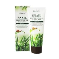 Увлажняющий крем для рук и ног с фильтратом улиточной слизи Deoproce 100 мл/Deoproce Snail Recovery Moisure Hand Foot Cream 100 ml