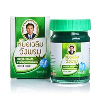 Зелёный тайский бальзам Вангпром с Клинакантусом 50 ml/Whangprom green balm 50 ml/
