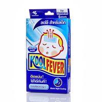 Охлаждающий пластырь-компресс для детей (при жаре и головной боли) 6 шт /Kool Fever Whole Night Cooling for Children 6 pcs