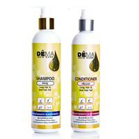 Шампунь+кондиционер против выпадения и для ускорения рос та волос DEMA Genive 265 мл+265 мл /DEMA Genive Long Hair Fast Growth Shampoo + Conditioner Helps Hair Grow Longer 265+265 ml