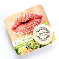 Сахарный органический скраб для питания и увлажнения губ с ароматом дыни и мяты от Phutawan 18 гр / Phutawan 100% Natural Mint Melon Sugar Exfoliating + Hydrating Lip Scrub 18 g