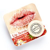 Сахарный органический скраб для питания и увлажнения губ с ароматом клубники от Phutawan 18 гр / Phutawan 100% Natural Strawberry Sugar Exfoliating + Hydrating Lip Scrub 18 g