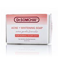Нежное мыло против акне для сухой кожи Dr Somchai 80 гр / Dr Somchai Acne & Cleansing Cream Soap for Normal to Dry Skin 80 gr