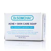 Мыло для чувствительной кожи против акне Dr Somchai 80 гр /Dr Somchai ACNE & Skin Care Soap for Sensitive Skin 80 gr