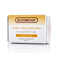 Нежное мыло для жирной, проблемной и нормальной кожи Dr Somchai 80 гр/Dr Somchai Acne & Cleansing Cream Soap for Normal to Oily Skin 80 gr
