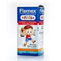 Детская микстура от кашля Flemex со вкусом малины и клубники 60 мл/ Flemex Kids Carbocysteine Raspberry & Strawberry Flavoured Syrup 60ml