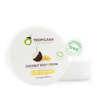 КОКОСОВЫЙ ОМОЛАЖИВАЮЩИЙ КРЕМ ДЛЯ ТЕЛА SOY PROTEIN TROPICANA (БЕЗ ПАРАБЕНОВ) 250 Г/TROPICANA SOY PROTEIN body cream 250 gr/