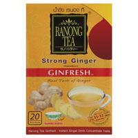 Гранулированный растворимый имбирный напиток «Крепкий» от Ranong 10 пакетиков / Ranong Instant Ginger Tea Ginfresh Strong 10 sachets