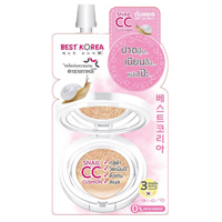 CC Крем-кушон Snail CC Cushion SPF34 PA ++ с улиточной слизью от Best Korea 8 мл / Best Korea Snail CC Cushion SPF34 PA ++ 8ml